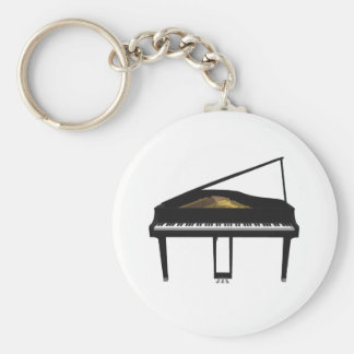 3D Model: Black Grand Piano: Key Ring