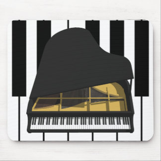 3D Model: Black Grand Piano: Mouse Mat
