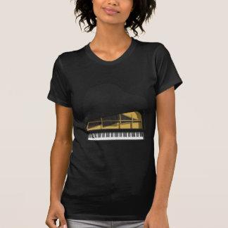 3D Model: Black Grand Piano: T-Shirt