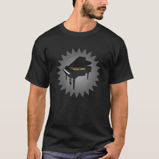 3D Model: Black Grand Piano: T-Shirt