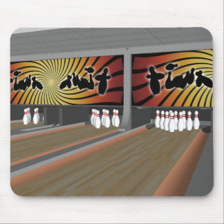 3D Model: Bowling Alley: Mouse Pad