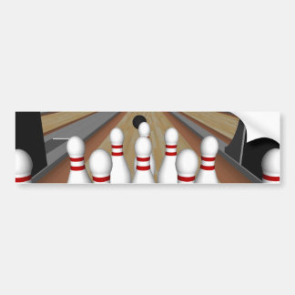 3D Model: Bowling Pins on Lane: Bumper Sticker