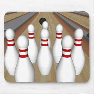 3D Model: Bowling Pins on Lane: Mouse Pad