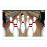 3D Model: Bowling Pins on Lane: Post Card