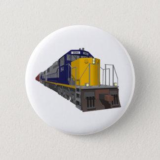 3D Model: Freight Train: Railroad: 6 Cm Round Badge