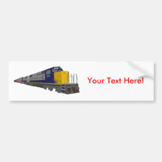 3D Model: Freight Train: Railroad: Bumper Sticker