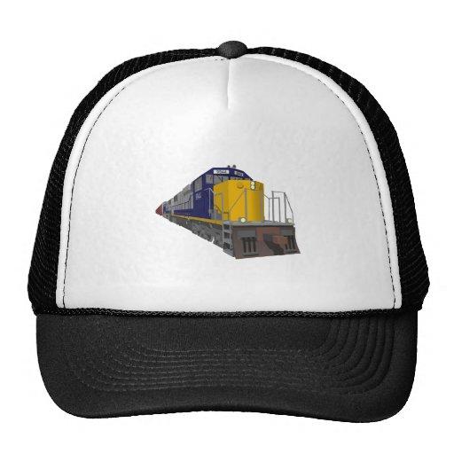 3D Model: Freight Train: Railroad: Mesh Hat