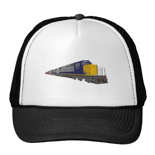 3D Model: Freight Train: Railroad: Trucker Hat