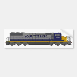 3D Model: Train Engine: Railroad: Bumper Sticker