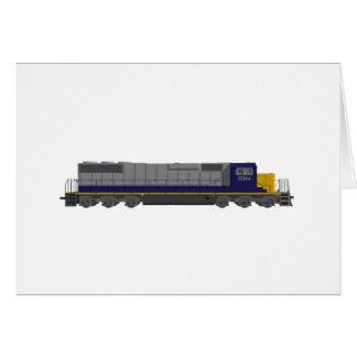 3D Model: Train Engine: Railroad: Card