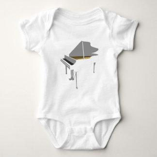 3D Model: White Grand Piano: Baby Bodysuit
