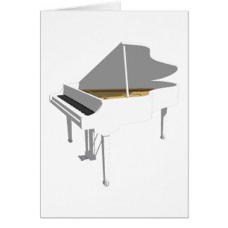 3D Model: White Grand Piano: Card