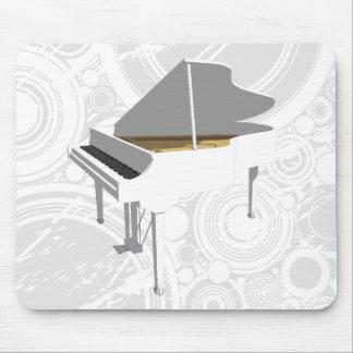 3D Model: White Grand Piano: Mousepad