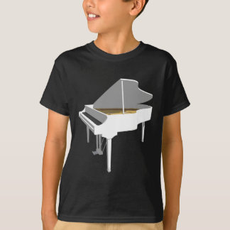 3D Model: White Grand Piano: T-Shirt