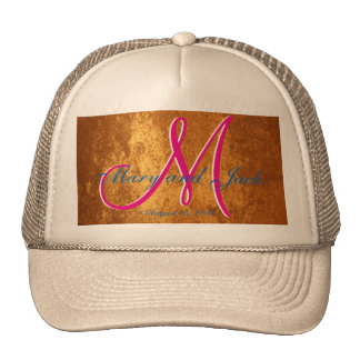3d Monogram  Bronze Amber Trucker Hat