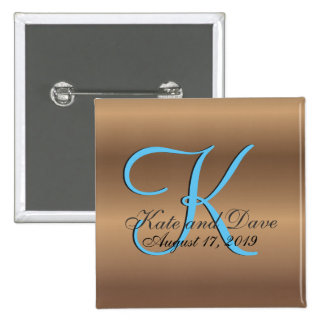3d Monogram Bronze 15 Cm Square Badge