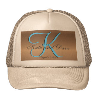 3d Monogram Bronze Trucker Hat