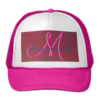 3d Monogram  Crimson Trucker Hat