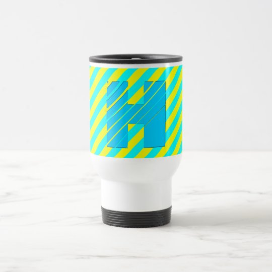 3D Monogram Festival Colours Travel Mug