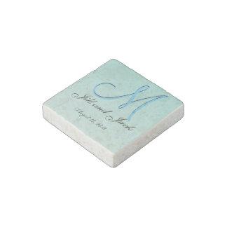 3d Monogram Green Mint Stone Magnet