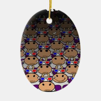 3D MooVie Christmas Ornament