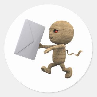 3d Mummy Letter Sticker