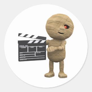 3d-mummy-movie round sticker