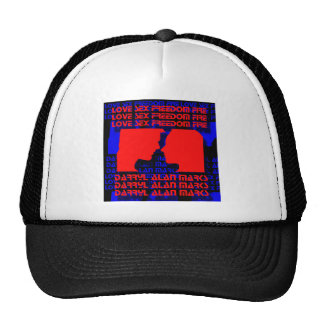 3D Music Video Clip Red and Blue Optical Illusion Cap