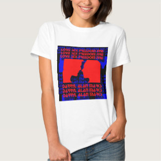3D Music Video Clip Red and Blue Optical Illusion T Shirt