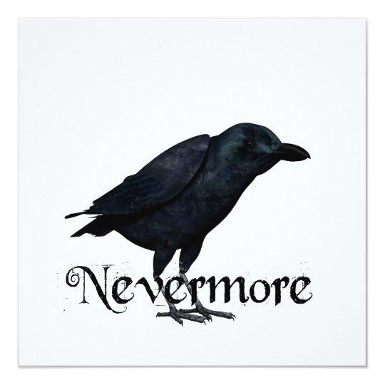 3D Nevermore Raven 13 Cm X 13 Cm Square Invitation Card