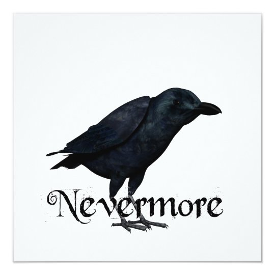 3D Nevermore Raven Card