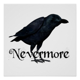 3D Nevermore Raven Poster
