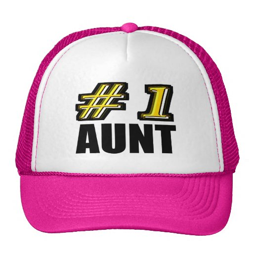 3D Number One Aunt Mesh Hats