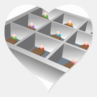 3d Office Cubicles Heart Sticker