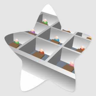 3d Office Cubicles Star Sticker