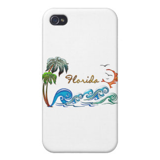 3d Palms, Waves & Sunset FLORIDA iPhone 4 Case