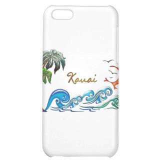 3d Palms Waves Sunset KAUAI iPhone 5C Cases