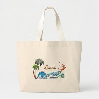 3d Palms, Waves & Sunset LANAI Canvas Bag