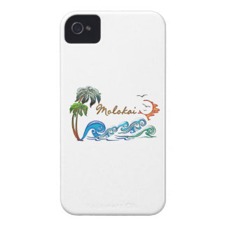 3d Palms, Waves & Sunset MOLOKAI iPhone 4 Covers