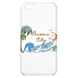 3d Palms Waves Sunset PANAMA CITY Cover For iPhone 5C
