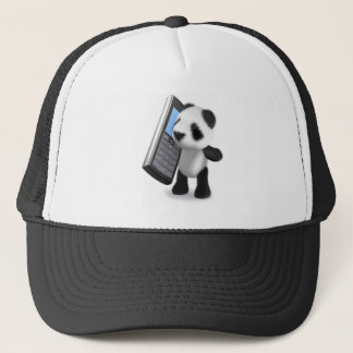 3d Panda Mobile Phone Trucker Hat