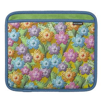 3D Paper Flower Garden iPad Sleeve