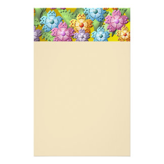 3D Paper Flower Garden Stationery