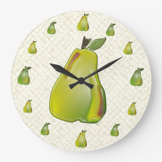 3D Pear (WC) Wall Clock