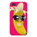 3d Peeled Banana wearing Shades (Any Color U Like! Case For iPhone 4