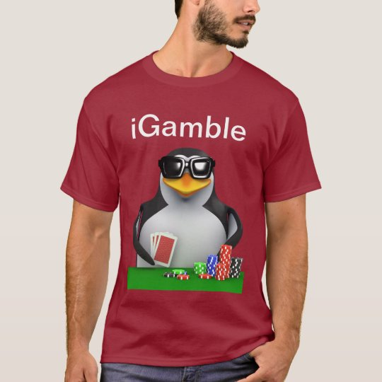 3d Penguin Poker iGamble T-Shirt