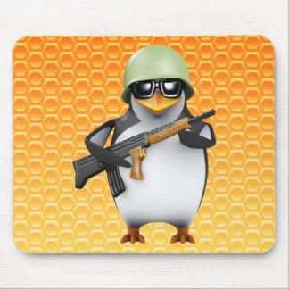 3d Penguin Soldier Advances Mouse Mat