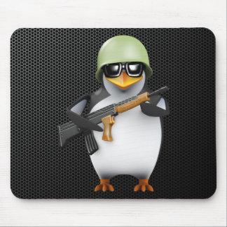 3d Penguin Soldier Advances Mousepad