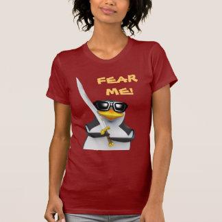 3d Penguin Swordfighter (editable) T-Shirt