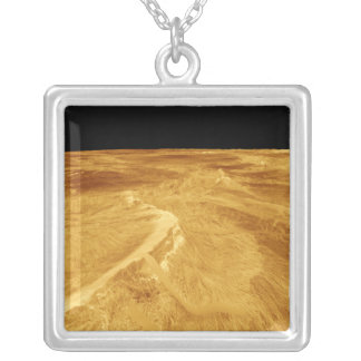 3D Perspective View of Latona Vorona Square Pendant Necklace